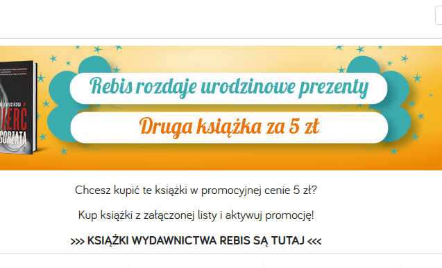 Tania Książka – druga książka za 5 zł – do 31.08.2020 r.