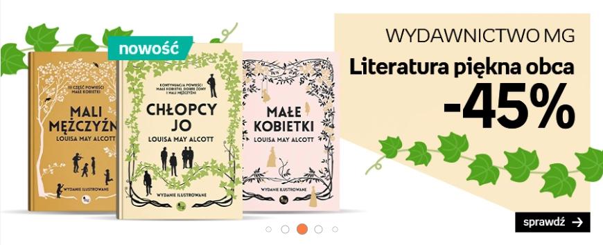 Empik: Literatura piękna obca -45% Wyd. MG – do 23.09.2020 r.