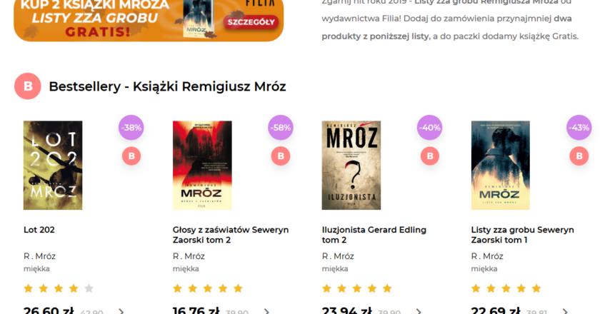 """Gandalf: """"Listy zza grobu"""" gratis przy zamówieniu min. 2 książek R. Mroza"""